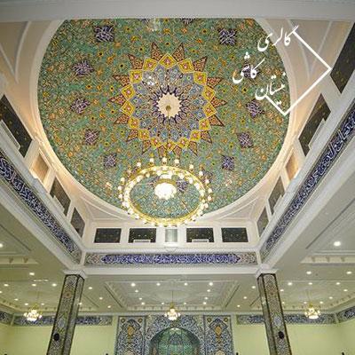 کاشی سنتی با نقوش ایرانی-مساجد و اماکن مذهبی