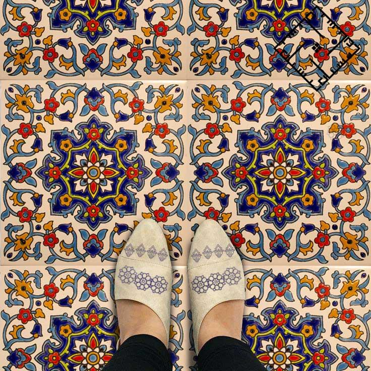 کاشی سنتی ایرانی با نقوش ایرانی