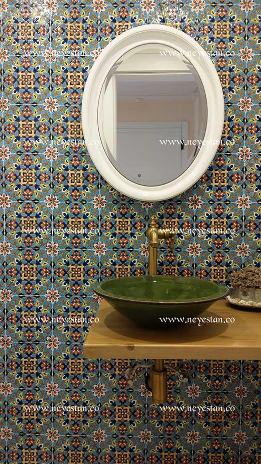کاشی سنتی با طرح ایرانی