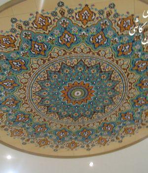 کاشی سنتی با طرح اسلیمی ایرانی