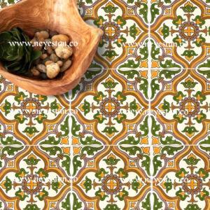 کاشی سنتی با طرح اسپانیایی مراکشیم مناسب کف و دیواره
