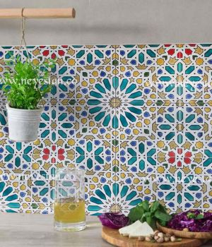 کاشی سنتی با طرح هندسی مراکشی