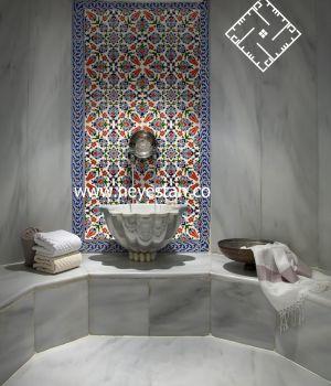 کاشی سنتی طرح ترکی - حمام ترکی
