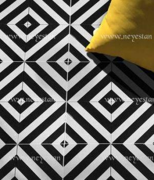 کاشی سنتی کف با طرح کژال